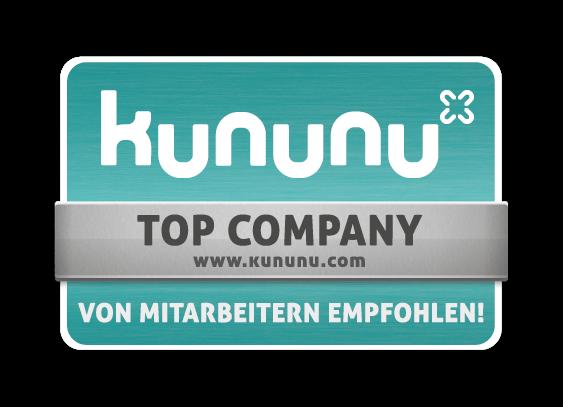 Kununu Siegel Top Company – Von Mitarbeitern empfohlen